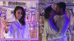 Watch Kareena and saif romance video